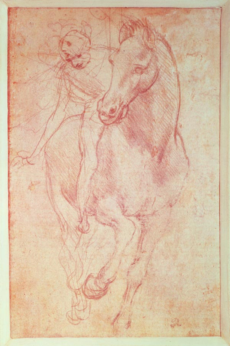 Study Of A Horse And Rider Wall Mural Sample