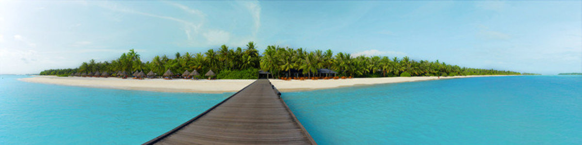 Sun Island Maldives Mural Wallpaper Sample
