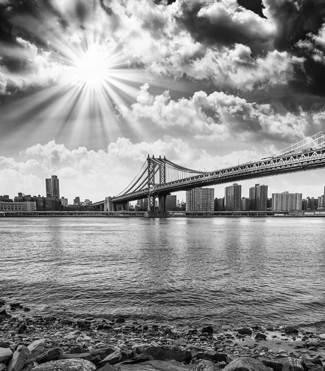 Black And White Vista of NYC Wallpaper Mural Additional Thumbnail