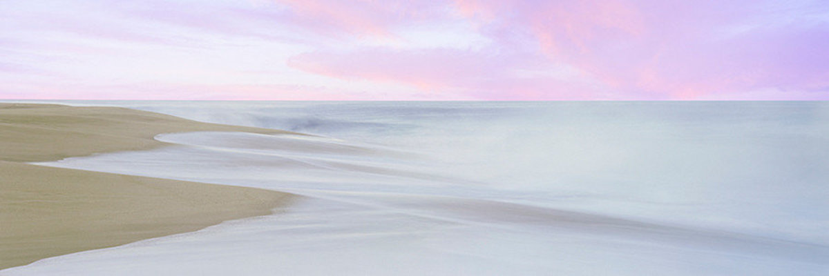 Sunrise Over The Pacific Ocean Mural Wallpaper Sample