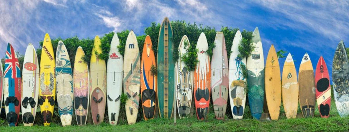 Surfboard fence. Maui, Hawaii