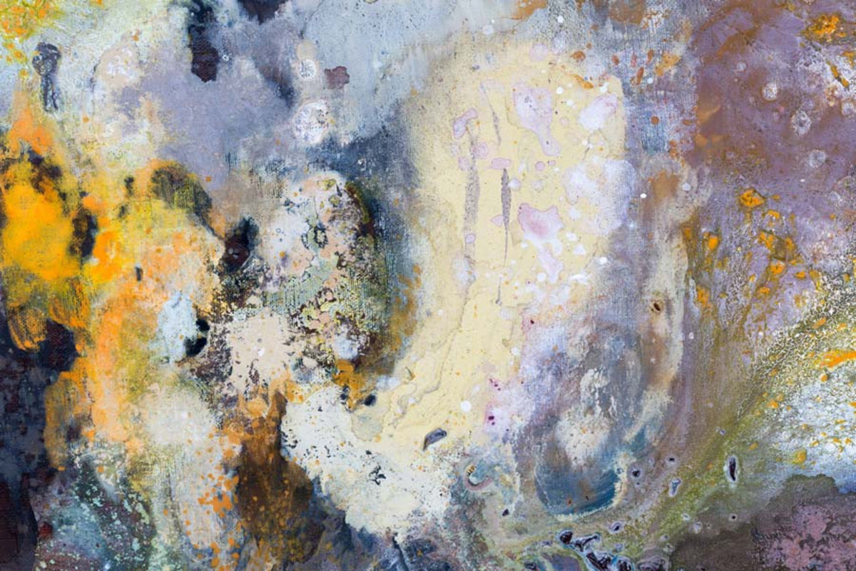 abstract composition of varying hues and tones meld together to form a dreamy creation