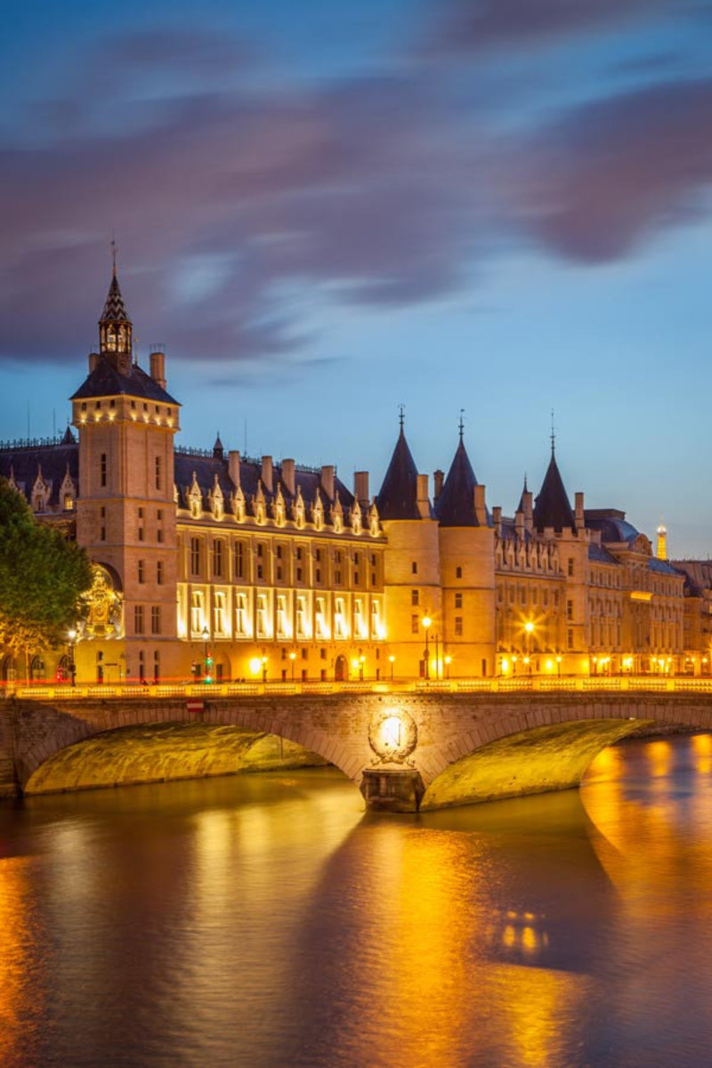 The Conciergerie at Twilight Wall Mural Additional Thumbnail