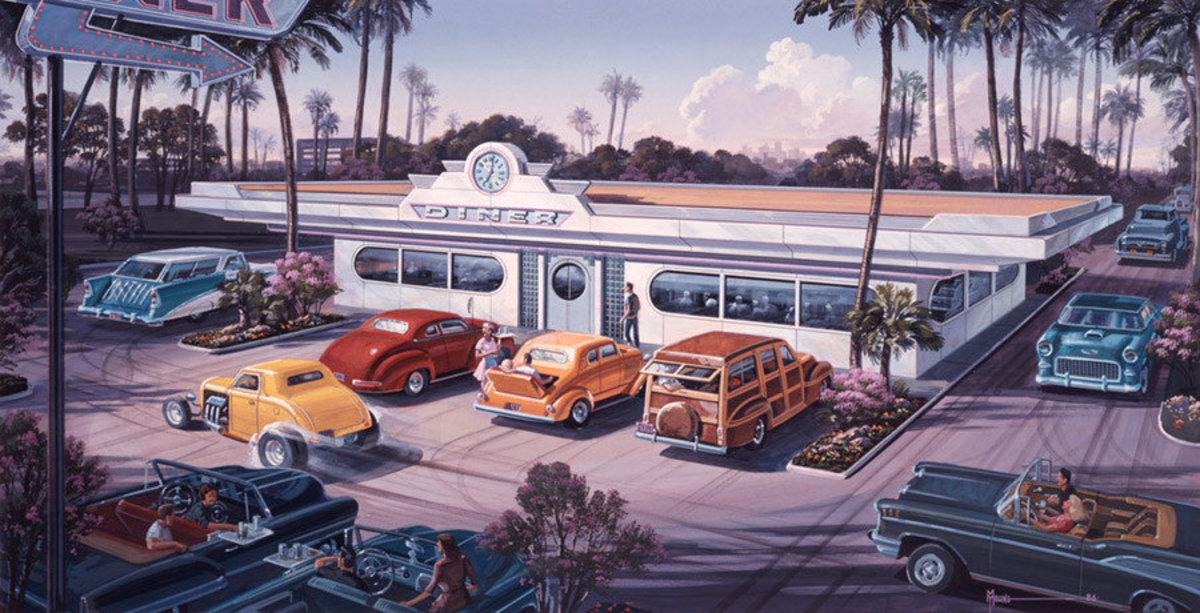 The Diner Mural Wallpaper