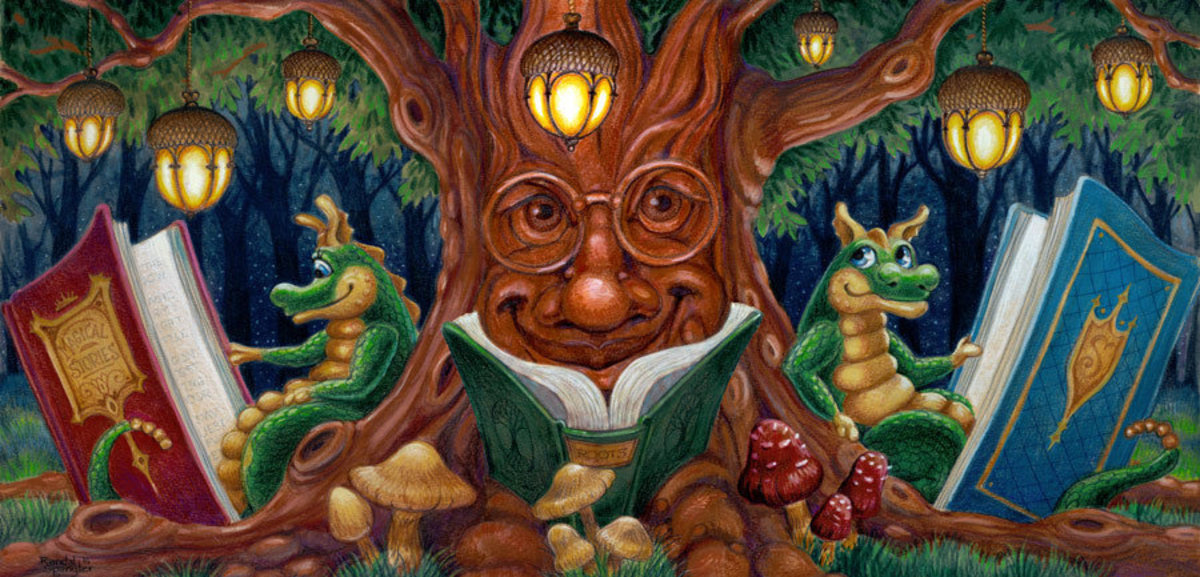 The Reading Tree Mural Wallpaper
