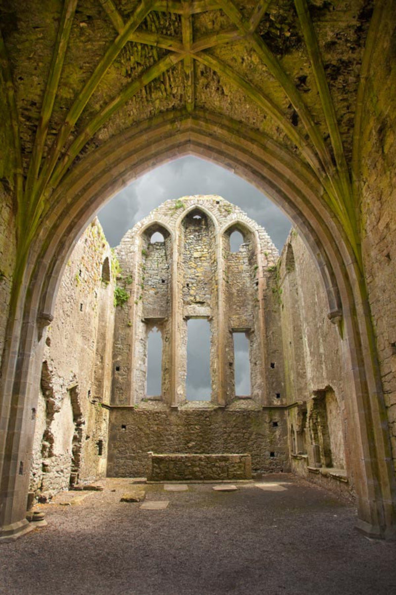 The Ruins of Hore Abbey, Ireland Wall Mural Sample
