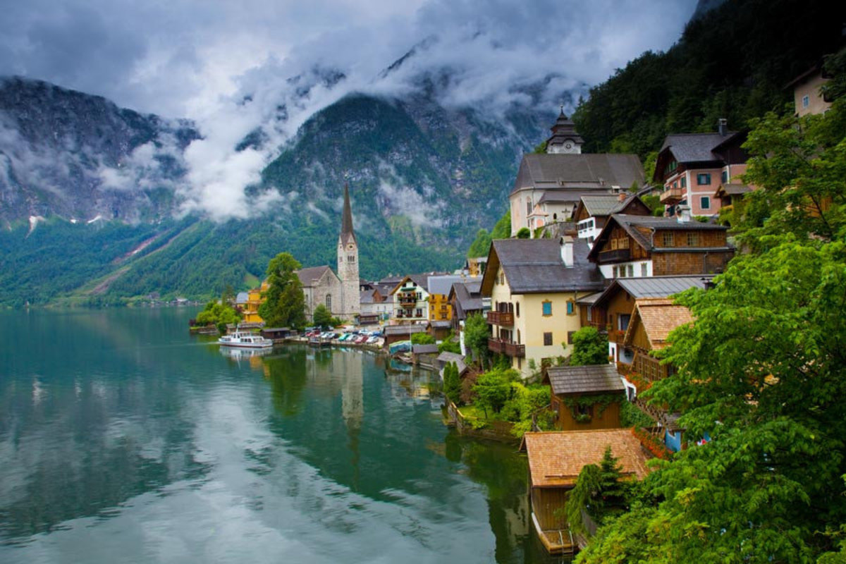 The Village of Hallstatt, Austria 2 Wallpaper Mural Sample