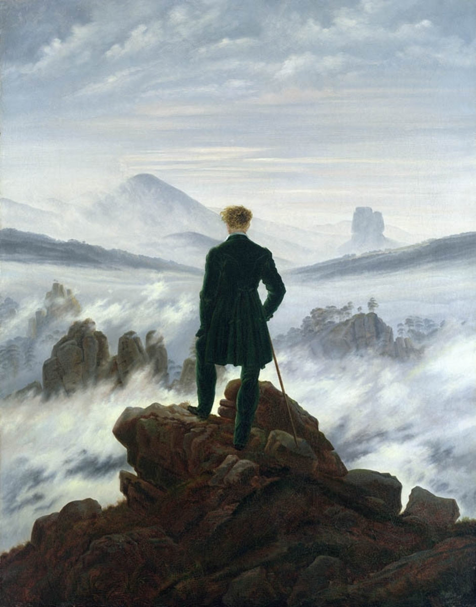 The Wanderer Above The Sea of Fog wall mural by Caspar David Friedrich