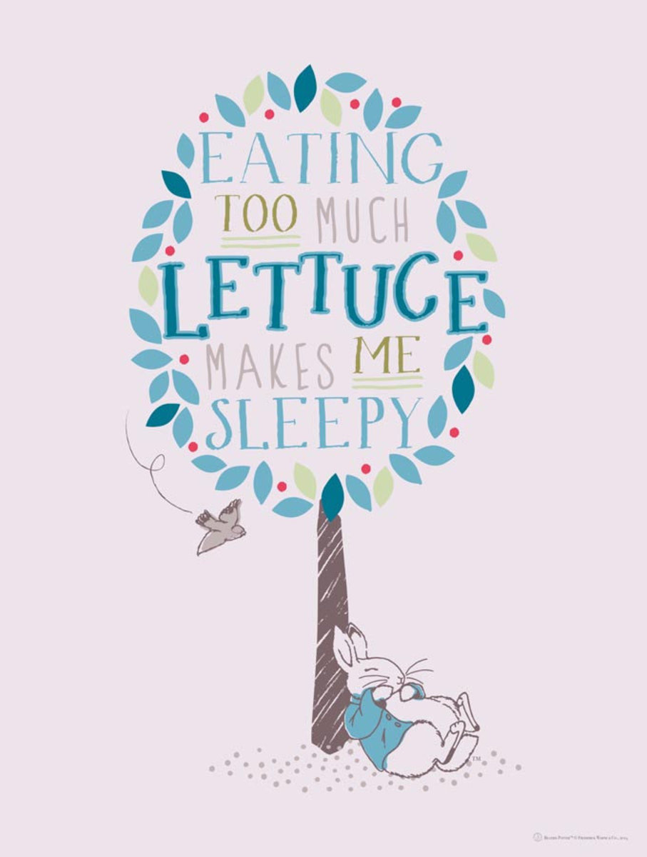 Too Much Lettuce - Peter Rabbit Wallpaper Mural Additional Thumbnail