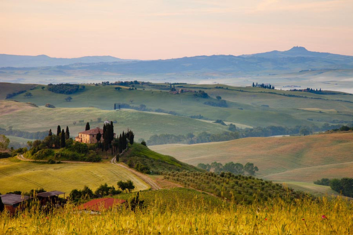 Tuscany Wall Mural Sample