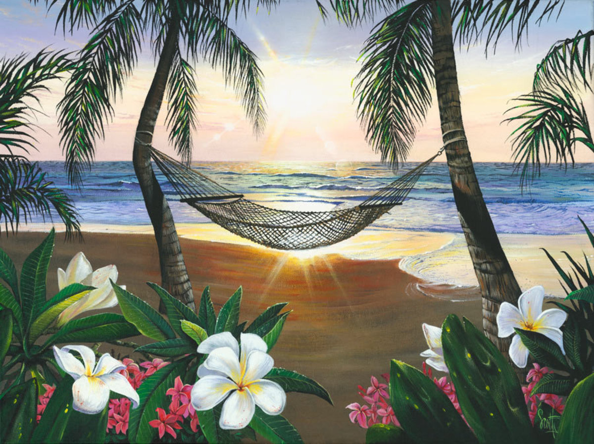 Twilight Hammock Wallpaper Mural Sample