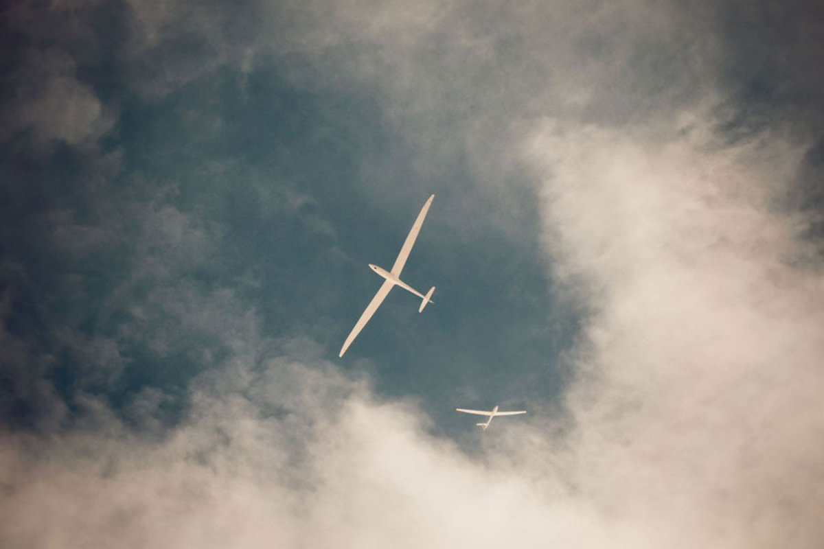 Two Gliders In The Sky