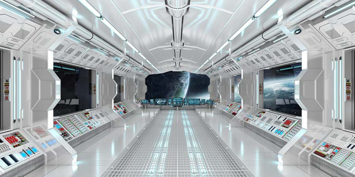 View From Inside Space Ship Wall Mural Sample