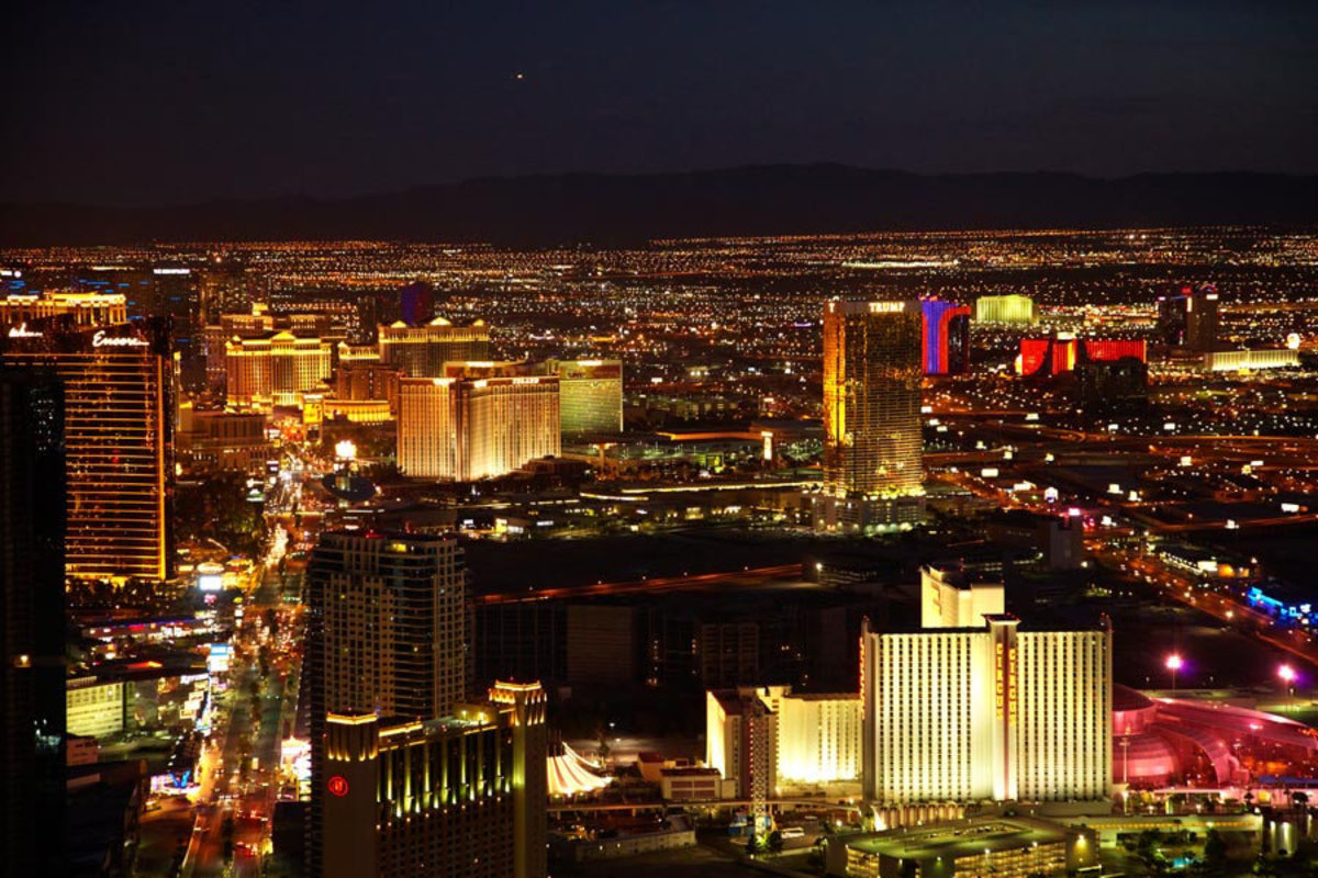 View from Stratosphere Tower Wall Mural Sample