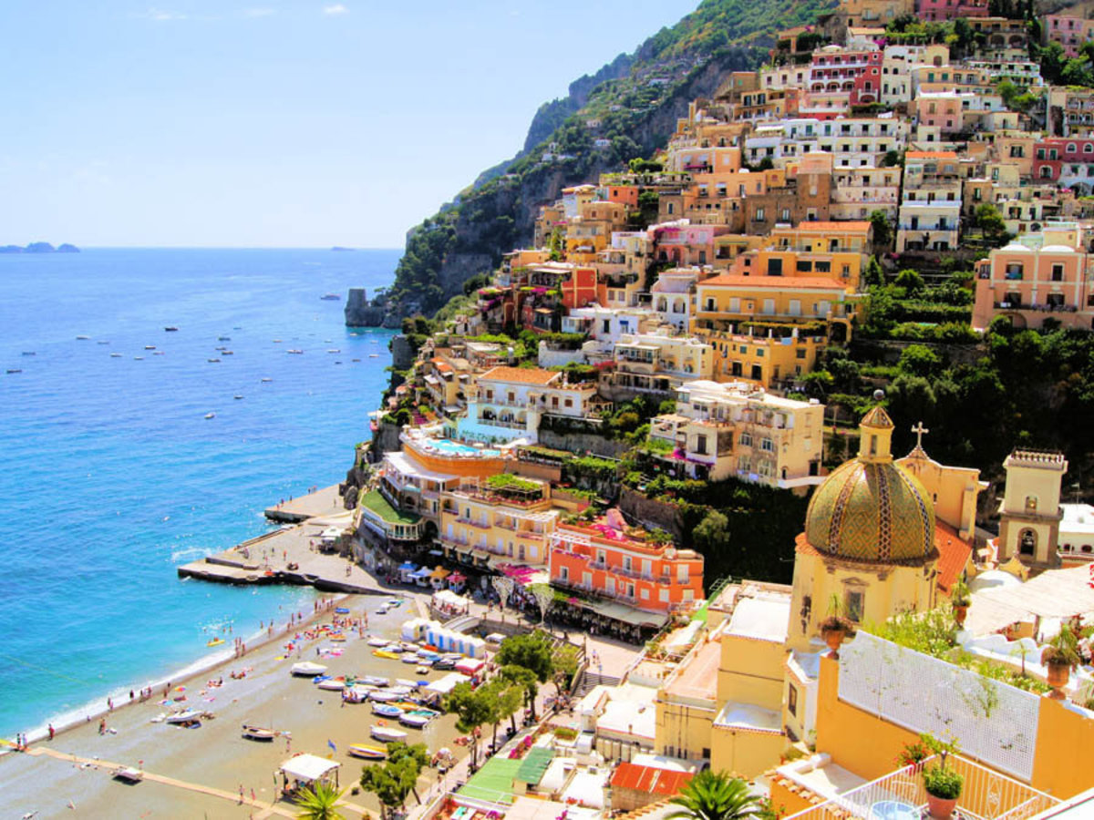 View Of The Town Of Positano, Amalfi Coast, Italy Wall Mural Additional Thumbnail